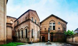 Chiesa Di San Benedetto i Ferrara, Italien Arkivbild