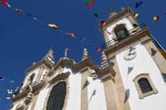 Chiesa di San Cipriano, Vila Nova de Cerveira Fotografie Stock Libere da Diritti