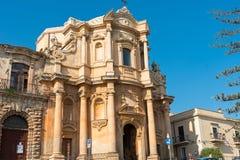 The Chiesa di San Domenico in Noto, Sicily. The Chiesa di San Domenico in Noto, a world heritage site, Sicily Stock Image