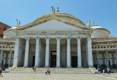 Chiesa di San Francisco de Paula in Piazza del Plebiscito Napoli, Italia 01 07 L'Italia 2018 fotografie stock