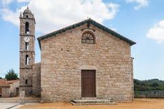 Chiesa di San-Georges, Quenza, Corsica del sud fotografia stock libera da diritti