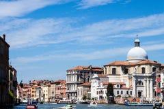 Chiesa di San Geremia - canal de Grand Canal grand Photos libres de droits