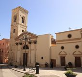 Chiesa Di San Giacomo. It is the parish church in the historical district of Villanova, at the foot of the Castle, and one of the four most ancient parishes in stock photography