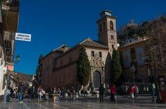 Chiesa di San Gil e di Santa Ana Granada, spagna fotografie stock