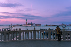 Chiesa di San Giorgio Maggiore e um fotógrafo Imagens de Stock