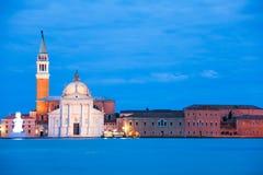 Chiesa di San Giorgio Maggiore na noite Fotografia de Stock Royalty Free