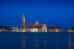 Chiesa di San Giorgio Maggiore & ora blu fotografia stock libera da diritti