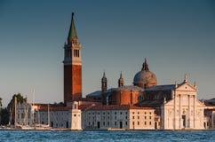 Chiesa di San Giorgio Maggiore a Venezia Fotografie Stock Libere da Diritti