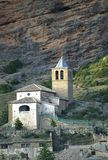 Chiesa di San Martin, Riglos, Spagna Immagini Stock