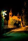 Chiesa di San Martino, Italy. Chiesa di S.Martino di notte, Casalecchio di Reno, Bologna - Italy Royalty Free Stock Image