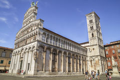 Chiesa di San Michele in Foro - Church of San Michele in Foro, Lucca Royalty Free Stock Photos