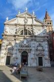 Chiesa di San Moise es iglesia cat?lica en Venecia Italia foto de archivo libre de regalías