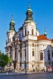 Chiesa di San Nicola al quadrato di Città Vecchia, Praga Immagini Stock