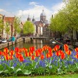 Chiesa di San Nicola a Amsterdam Fotografie Stock