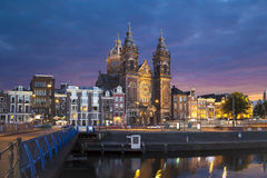 Chiesa di San Nicola a Amsterdam Fotografie Stock Libere da Diritti