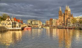 Chiesa di San Nicola a Amsterdam, Olanda Fotografia Stock Libera da Diritti