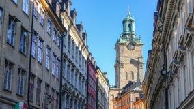 Chiesa di San Nicola localmente nello svedese: Storkyrkan Vecchia città di Stoccolma, Svezia immagine stock