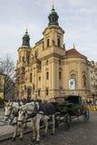 Chiesa di San Nicola a Praga Fotografia Stock Libera da Diritti