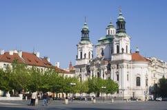 Chiesa di San Nicola a Praga immagine stock