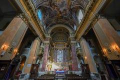 Chiesa di San Pantaleo - Roma, Italia fotografía de archivo libre de regalías