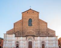 Chiesa di San Petronio nella piazza Maggiore a Bologna, Italia Fotografia Stock