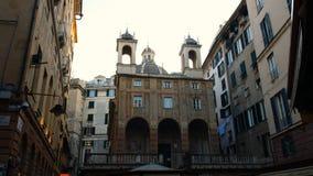 Chiesa di San Pietro in Banchi, nel centro storico di Genova, situato in piazza Banchi, nel distretto di Molo fotografia stock libera da diritti