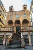 Chiesa di San Pietro i Banchi i Genua italy arkivfoton