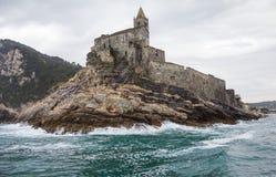 Chiesa Di San Pietro Porto Venere Fotografia Stock Libera da Diritti