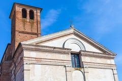 Chiesa di San Sebastiano with Tower in Mantua Stock Photo