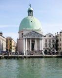 Chiesa di San Simeone Piccolo, Venezia immagine stock libera da diritti
