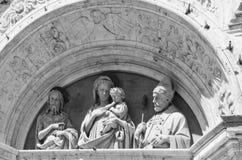 Chiesa di Sant Agostino i Montepulciano, Italien Arkivfoto
