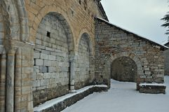 Chiesa di Sant Andreu de Salardú immagini stock