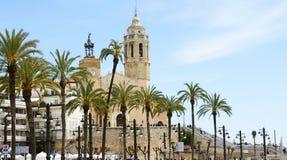 Chiesa di Sant Bartomeu e di Santa Tecla Fotografie Stock Libere da Diritti
