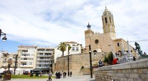 Chiesa di Sant Bartomeu e di Santa Tecla Fotografie Stock
