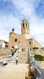 Chiesa di Sant Bartomeu e di Santa Tecla Fotografia Stock Libera da Diritti