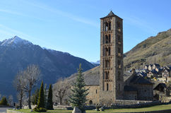 Chiesa di Sant Climent de Taüll Catalunya immagine stock libera da diritti