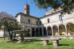 Chiesa di Sant'Onofrio al Gianicolo. At Trastevere Royalty Free Stock Photography