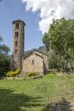 Chiesa di Santa Coloma al principato dell'Andorra fotografie stock libere da diritti