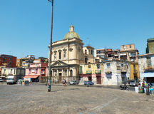Chiesa di Santa Croce e Purgatorio. Piazza del Mercato. Naples. stock images