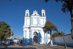 Chiesa di Santa Lucia in San Cristobal de Las Casas, il Chiapas, Mexic fotografia stock libera da diritti