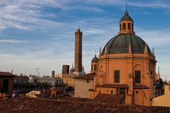 Chiesa di Santa Maria della Vita. Seen from the rooftop of the San Petronio Basilica in Bologna royalty free stock photography