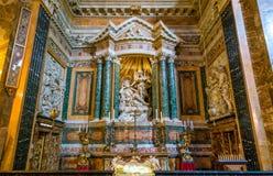 Chiesa di Santa Maria della Vittoria a Roma, Italia Fotografia Stock Libera da Diritti