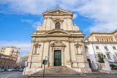 Chiesa di Santa Maria della Vittoria a Roma, Italia fotografie stock libere da diritti