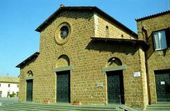 Chiesa di Santa Maria Maggiore, Cerveteri, Italia fotografia stock libera da diritti