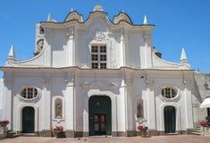 Chiesa di Santa Sofia Santa Sofia Church in Anacapri, Capri, Italy. Baroque facade of Chiesa di Santa Sofia Santa Sofia Church in Anacapri, Capri, Italy. Located Royalty Free Stock Photo