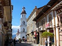 Chiesa di Santo Domingo, Cuenca, Ecuador immagini stock libere da diritti