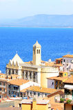 Chiesa di Santo Stefano, Italy. View at Porto Santo Stefano, a seaport town on the west coast of Italy, in the municipality of Monte Argentario, in Tuscany. The Stock Photos
