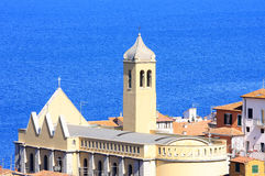Chiesa di Santo Stefano in Italy. View at Porto Santo Stefano, a seaport town on the west coast of Italy, in the municipality of Monte Argentario, in Tuscany Royalty Free Stock Image