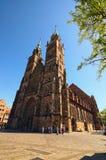 Chiesa di Sebaldus del san, una chiesa medievale nella vecchia città di Norimberga immagini stock