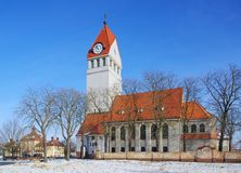 Chiesa di Senftenberg Brieske Immagini Stock Libere da Diritti